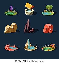 Elements Landscape ,Rocks ,Water Well ,Waterfall ,Lake,...