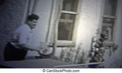 NEW YORK CITY - 1947: Table tennis - Original vintage 8mm...