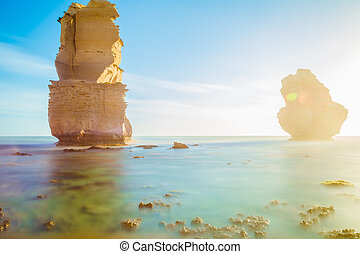 Port Campbell National Park - Gibson Steps at sunset in Port...