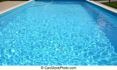 Swimming pool close-up.