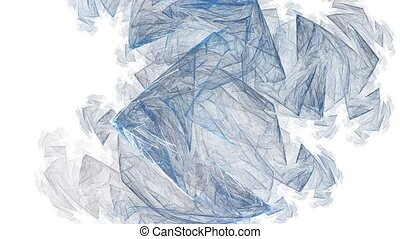 Ice shards. With alpha ch. - HD abstract fractal art...