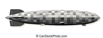 Air Ship - Large 1930sr German hydrogen filled airship over...