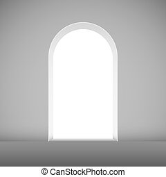 Abstract archway to the light vector template