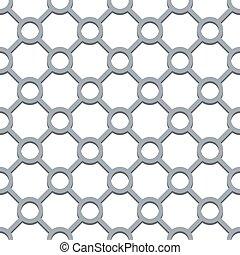 Seamless circle and diamond shapes grill pattern.