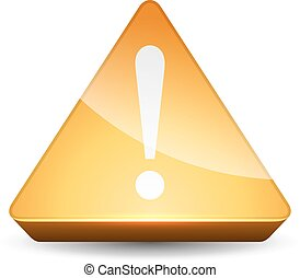 Yellow attention vector sign