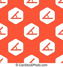 Orange hexagon angle pattern - Image of angle in white...