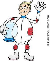 astronaut character cartoon illustration - Cartoon...