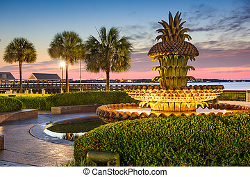 Charleston Waterfront Park - Charleston, South Carolina, USA...