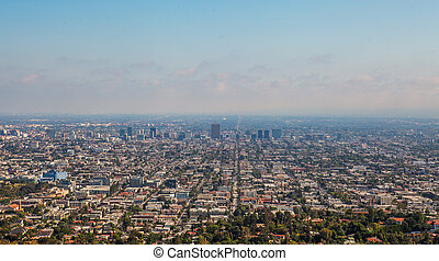 The city of Los Angeles as seen from Griffith Park...