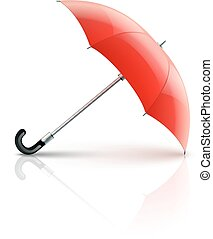 Red umbrella Eps10 vector illustration Isolated on white...