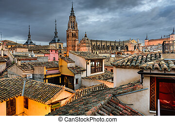 Toledo Spain Rooftop View - Toledo, Spain view of the town...