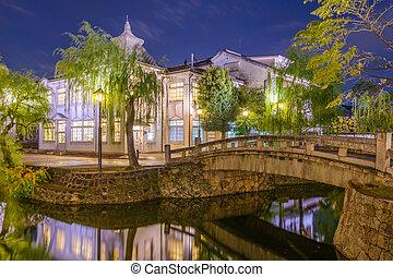 Okayama Canals - Kurashiki, Okayama, Japan old town canals.