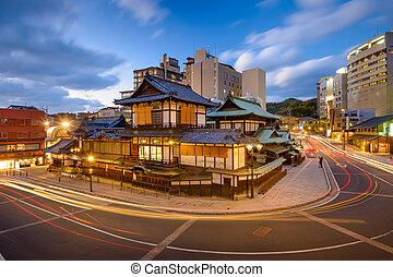 Matsuyama Japan Cityscape - Matsuyama, Japan at Dogo Onsen