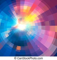 Abstract vector colorful circle technology background -...