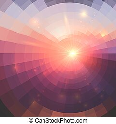 Abstract pink vector circle technology background - Abstract...