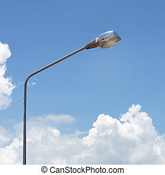 streetlight with beautiful sky background - streetlight with...