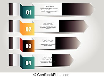 Infographic banners - Four colourfull and numbered...