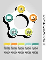 Infographic circles - Colourfull and numbered set of...