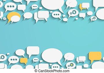 Speech bubbles and dialog balloons