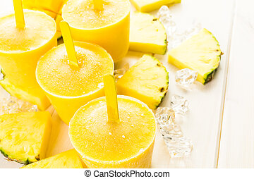 Popsicles - Homemade low calorie popsicles made with mando,...