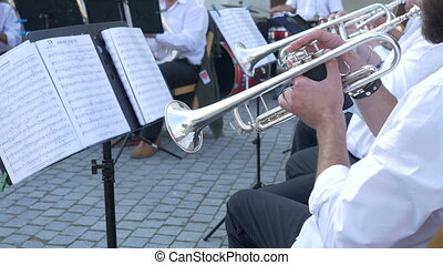 Trumpeters on a Brass Band
