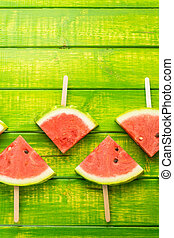 Watermelon - Yummy watermelon slice popsicles for refreshing...