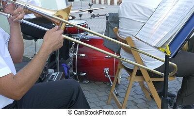 Man Playing Trombone