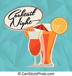 cocktail drink design, vector illustration eps10 graphic