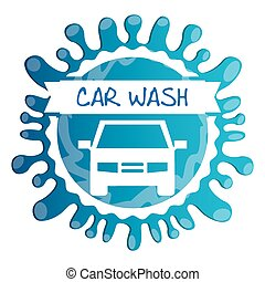 car wash design, vector illustration eps10 graphic
