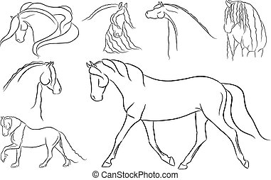 Collage of Horse Designs - Collage of various horse designs.