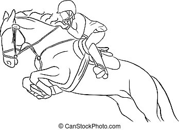 Show Jumper Design - Artistic show jumping horse and rider...