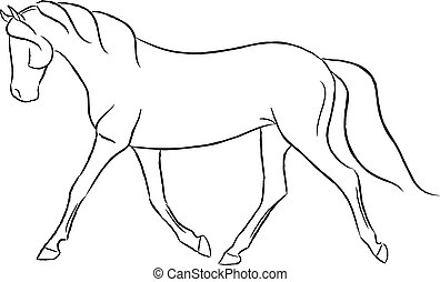 Trotting Horse - Artistic design of a trotting horse.