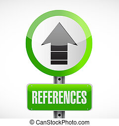 references road sign concept illustration design graphic