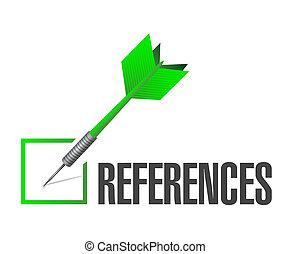 references check dart sign concept illustration design...