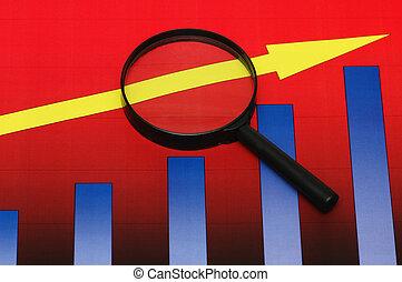 barra, empresa / negocio, estudiar, encima, -, gráficos,...
