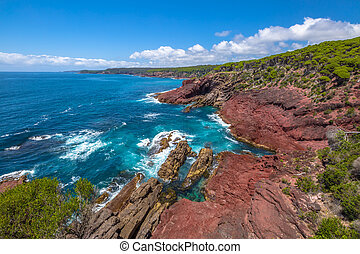 Ben Boyds National Park - Red Point lookout near the Boyds...