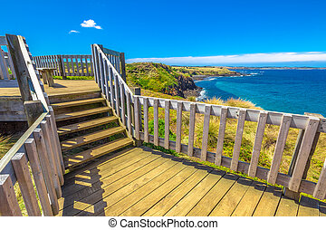 Phillip Island - The Nobbies, boardwalks verso Seal Rocks....