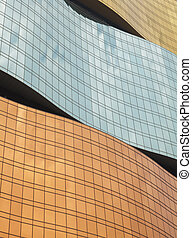 Curved windows of a modern building