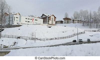 Winter panorama hotels in Roza Khutor plateau - Winter...