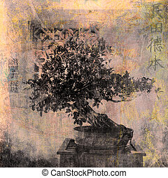 Bonsai - Chinese Bonsai tree Photo based illustration