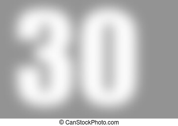 gray abstract background with number 30 - gray abstract...