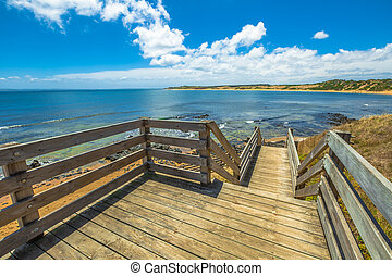 Phillip Island Walkway - Spectacular lookout from the wooden...