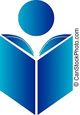 Reading Logo - Reading a book logo