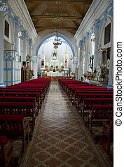 Temple Santa Lucia Interior - Interior of the Roman Catholic...