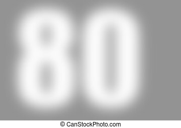 gray abstract background with number 80 - gray abstract...