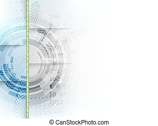 Technological circle with arrows on abstract vector...