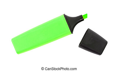 Green highlighter isolated