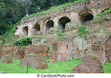 substructures and insula, ancient Roman residence - ROME,...