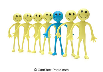 Stand out from the crowd - Figures of Smilies