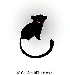 beautiful cheerful monkey